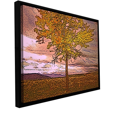 ArtWall Teton Meadow Fall Gallery-Wrapped Canvas 24 x 32 Floater-Framed (0uhl098a2432f)