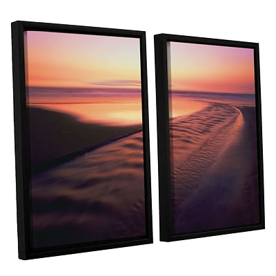 ArtWall Back To The Sea 2-Piece Canvas Set 24 x 36 Floater-Framed (0uhl101b2436f)