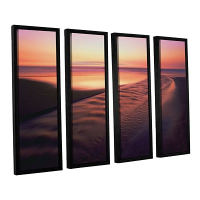ArtWall Back To The Sea 4-Piece Canvas Set 36 x 48 Floater-Framed (0uhl101d3648f)
