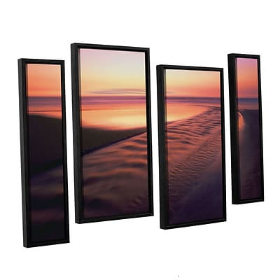 ArtWall Back To The Sea 4-Piece Canvas Staggered Set 24 x 36 Floater-Framed (0uhl101i2436f)