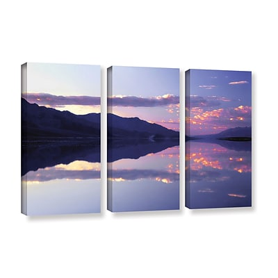 ArtWall Bad Water Sunset 3-Piece Gallery-Wrapped Canvas Set 36 x 54 (0uhl102c3654w)