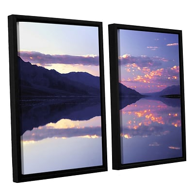 ArtWall Bad Water Sunset 2-Piece Canvas Set 24 x 32 Floater-Framed (0uhl102b2432f)