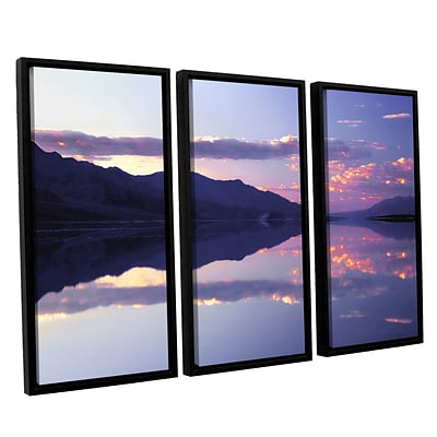 ArtWall Bad Water Sunset 3-Piece Canvas Set 36 x 54 Floater-Framed (0uhl102c3654f)