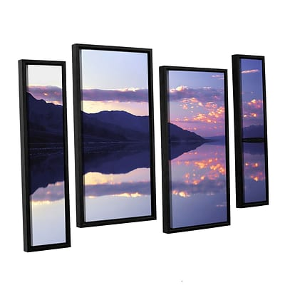 ArtWall Bad Water Sunset 4-Piece Canvas Staggered Set 24 x 36 Floater-Framed (0uhl102i2436f)