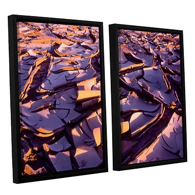 ArtWall Barro Magnifico 2-Piece Canvas Set 24 x 36 Floater Framed (0uhl103b2436f)