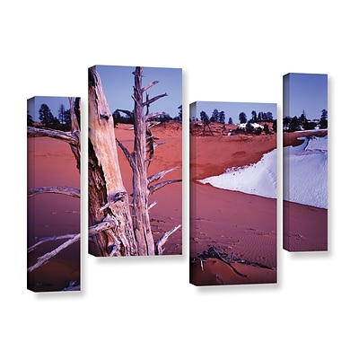 ArtWall Coal Dunes Dusk 4-Piece Gallery-Wrapped Canvas Staggered Set 36 x 54 (0uhl107i3654w)