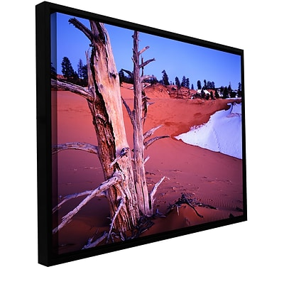 ArtWall Coal Dunes Dusk Gallery-Wrapped Floater-Framed Canvas 14 x 18 (0uhl107a1418f)