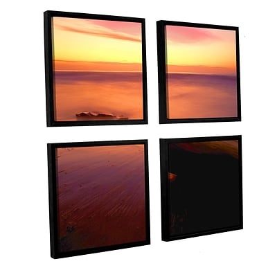 ArtWall Deep Twilight 4-Piece Canvas Square Set 36 x 36 Floater Framed (0uhl108e3636f)