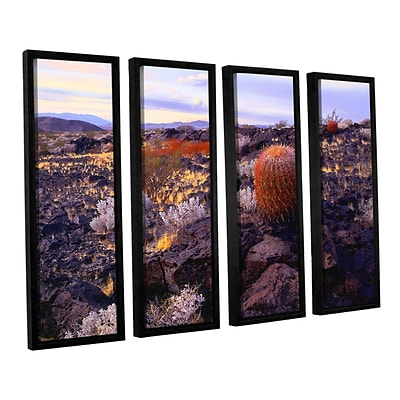 ArtWall In The Mojave 4-Piece Canvas Set 36 x 48 Floater-Framed (0uhl110d3648f)