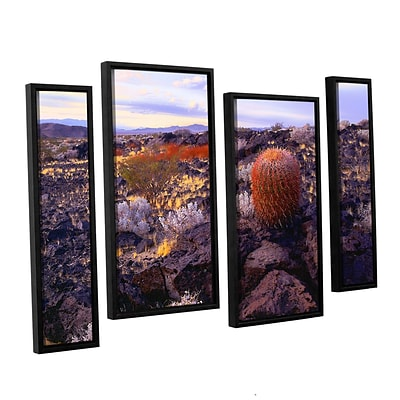 ArtWall In The Mojave 4-Piece Canvas Staggered Set 36 x 54 Floater Framed (0uhl110i3654f)
