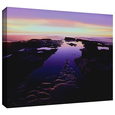 ArtWall Low Tide Afterglow Gallery-Wrapped Canvas 36 x 48 (0uhl113a3648w)