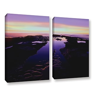 ArtWall Low Tide Afterglow 2-Piece Gallery-Wrapped Canvas Set 18 x 24 (0uhl113b1824w)
