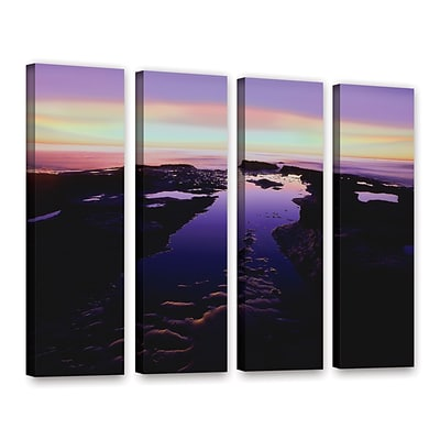 ArtWall Low Tide Afterglow 4-Piece Gallery-Wrapped Canvas Set 36 x 48 (0uhl113d3648w)