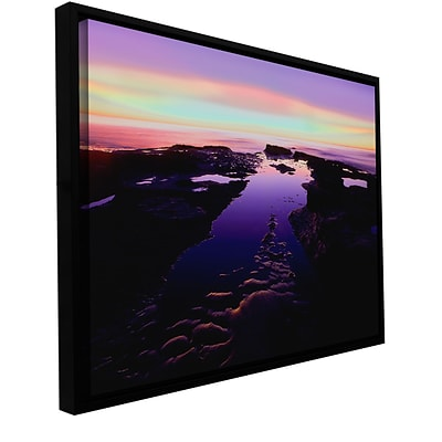 ArtWall Low Tide Afterglow Gallery-Wrapped Canvas 18 x 24 Floater-Framed (0uhl113a1824f)