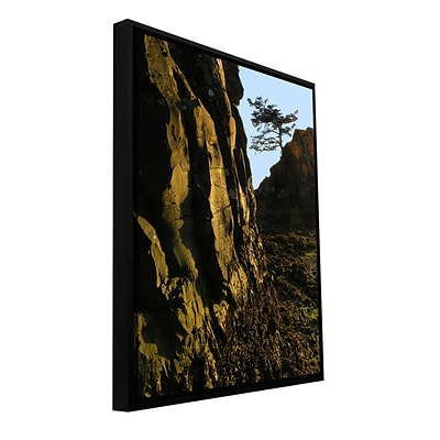 ArtWall Oregon Coast Sunset Gallery-Wrapped Canvas 36 x 48 Floater-Framed (0uhl116a3648f)