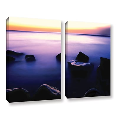 ArtWall Pacific Afterglow 2-Piece Gallery-Wrapped Canvas Set 24 x 32 (0uhl117b2432w)