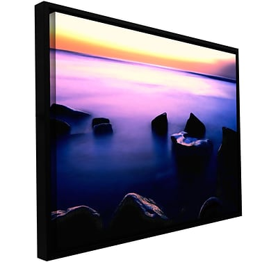 ArtWall Pacific Afterglow Gallery-Wrapped Canvas 14 x 18 Floater-Framed (0uhl117a1418f)