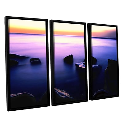 ArtWall Pacific Afterglow 3-Piece Canvas Set 36 x 54 Floater Framed (0uhl117c3654f)