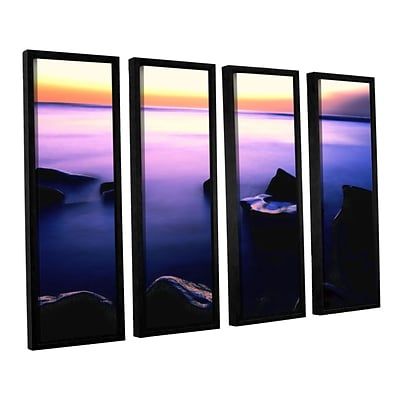 ArtWall Pacific Afterglow 4-Piece Canvas Set 24 x 32 Floater-Framed (0uhl117d2432f)