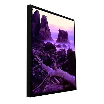 ArtWall Patricks Point Twilight Gallery-Wrapped Canvas 18 x 24 Floater-Framed (0uhl118a1824f)