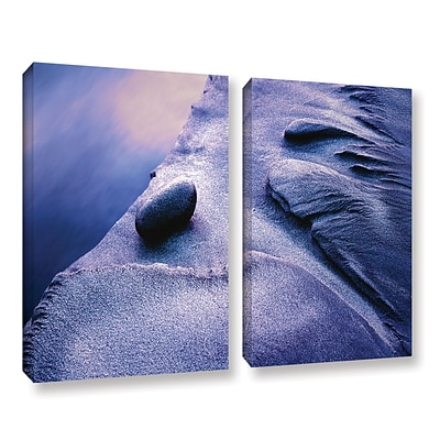 ArtWall Rock Sand And Stream 2-Piece Gallery-Wrapped Canvas Set 18 x 24 (0uhl119b1824w)