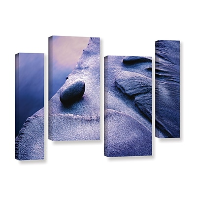 ArtWall Rock Sand And Stream 4-Piece Gallery-Wrapped Canvas Staggered Set 24 x 36 (0uhl119i2436w)