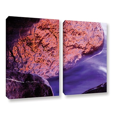 ArtWall Rock Surf And Sunset 2-Piece Gallery-Wrapped Canvas Set 24 x 36 (0uhl120b2436w)