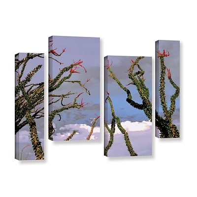 ArtWall Yuma Desert Spring 4-Piece Gallery-Wrapped Canvas Staggered Set 24 x 36 (0uhl121i2436w)