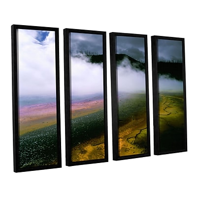 ArtWall Approaching Storm 4-Piece Canvas Set 36 x 48 Floater-Framed (0uhl123d3648f)