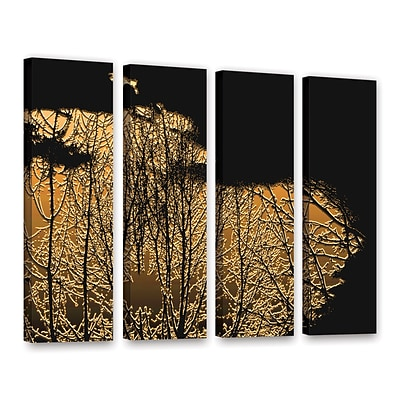 ArtWall Break In The Storm 4-Piece Gallery-Wrapped Canvas Set 36 x 48 (0uhl126d3648w)
