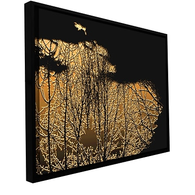 ArtWall Break In The Storm Gallery-Wrapped Canvas 14 x 18 Floater-Framed (0uhl126a1418f)