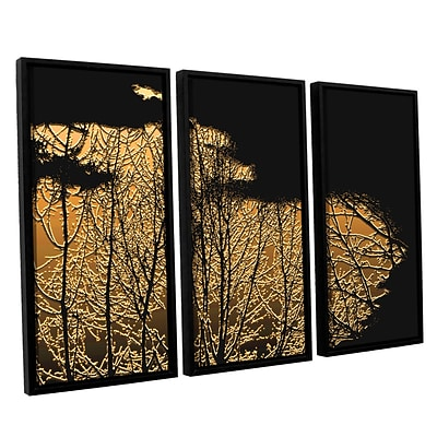 ArtWall Break In The Storm 3-Piece Canvas Set 36 x 54 Floater Framed (0uhl126c3654f)