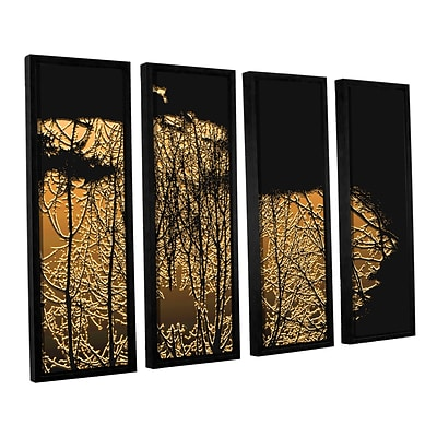 ArtWall Break In The Storm 4-Piece Canvas Set 36 x 48 Floater-Framed (0uhl126d3648f)