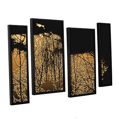 ArtWall Break In The Storm 4-Piece Canvas Staggered Set 24 x 36 Floater Framed (0uhl126i2436f)