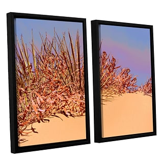 ArtWall Coral Dunes Noon 2-Piece Canvas Set 24 x 32 Floater Framed (0uhl129b2432f)