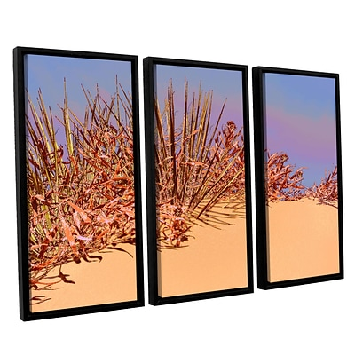 ArtWall Coral Dunes Noon 3-Piece Canvas Set 36 x 54 Floater-Framed (0uhl129c3654f)