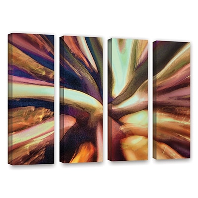 ArtWall Espectro Suculenta 4-Piece Gallery-Wrapped Canvas Set 24 x 32 (0uhl133d2432w)
