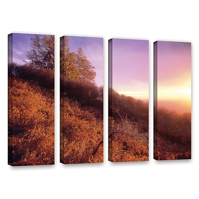 ArtWall Fire Light 4-Piece Gallery-Wrapped Canvas Set 36 x 48 (0uhl134d3648w)