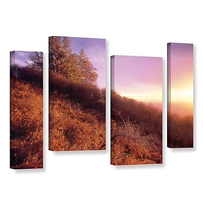 ArtWall Fire Light 4-Piece Gallery-Wrapped Canvas Staggered Set 24 x 36 (0uhl134i2436w)