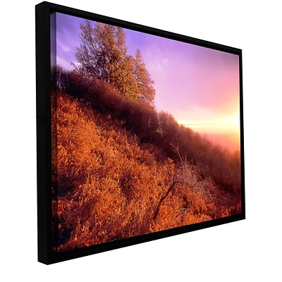 ArtWall Fire Light Gallery-Wrapped Canvas 14 x 18 Floater-Framed (0uhl134a1418f)