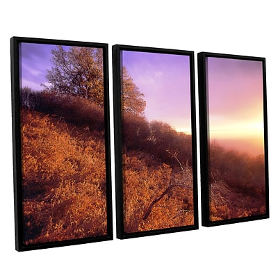 ArtWall Fire Light 3-Piece Canvas Set 36 x 54 Floater-Framed (0uhl134c3654f)