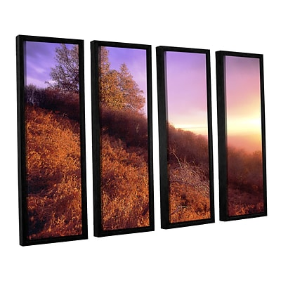 ArtWall Fire Light 4-Piece Canvas Set 24 x 32 Floater-Framed (0uhl134d2432f)