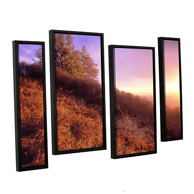 ArtWall Fire Light 4-Piece Canvas Staggered Set 24 x 36 Floater-Framed (0uhl134i2436f)
