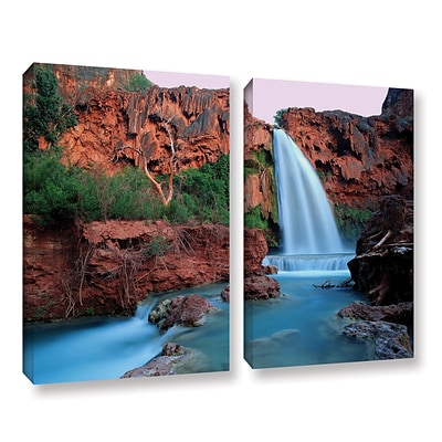 ArtWall Havasu Falls Dusk 2-Piece Gallery-Wrapped Canvas Set 18 x 24 (0uhl135b1824w)