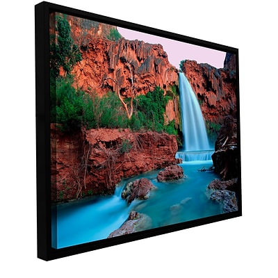 ArtWall Havasu Falls Dusk Gallery-Wrapped Canvas 36 x 48 Floater-Framed (0uhl135a3648f)
