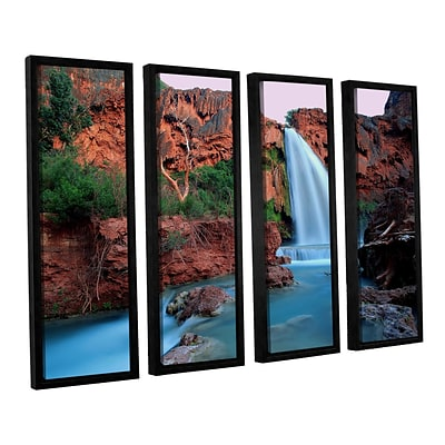 ArtWall Havasu Falls Dusk 4-Piece Canvas Set 36 x 48 Floater-Framed (0uhl135d3648f)