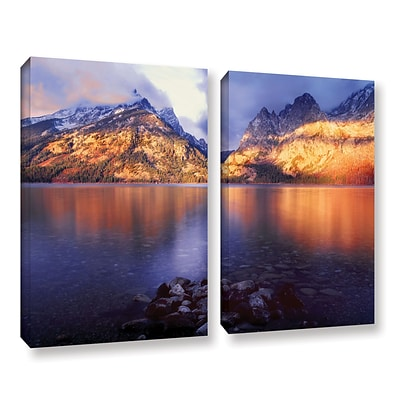 ArtWall Jenny Lake Sunrise 2-Piece Gallery-Wrapped Canvas Set 36 x 48 (0uhl136b3648w)