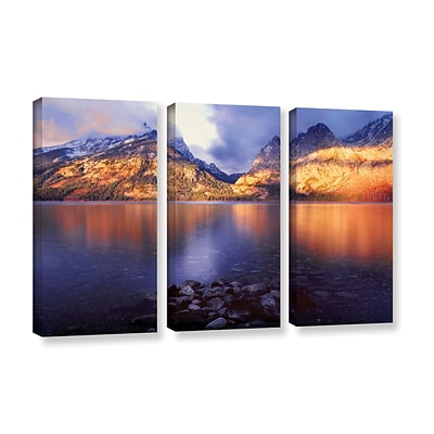 ArtWall Jenny Lake Sunrise 3-Piece Gallery-Wrapped Canvas Set 36 x 54 (0uhl136c3654w)