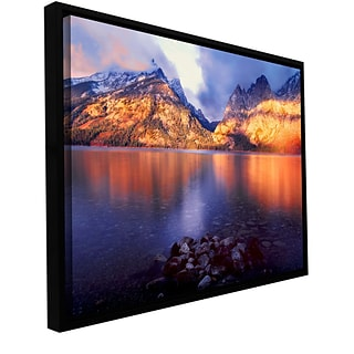 ArtWall Jenny Lake Sunrise Gallery-Wrapped Canvas 14 x 18 Floater-Framed (0uhl136a1418f)