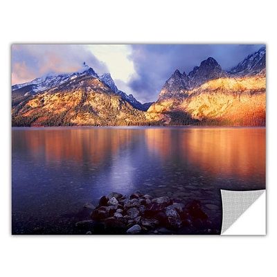 ArtWall Jenny Lake Sunrise Art Appeelz Removable Wall Art Graphic 24 x 32 (0uhl136a2432p)